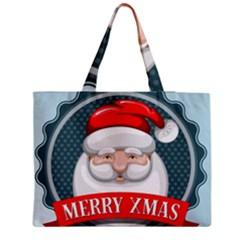 Christmas Santa Claus Xmas Medium Tote Bag by Alisyart