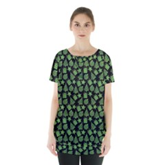 Christmas Pattern Gif Star Tree Happy Green Skirt Hem Sports Top by Alisyart
