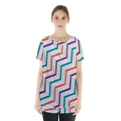 Line Color Rainbow Skirt Hem Sports Top by Alisyart