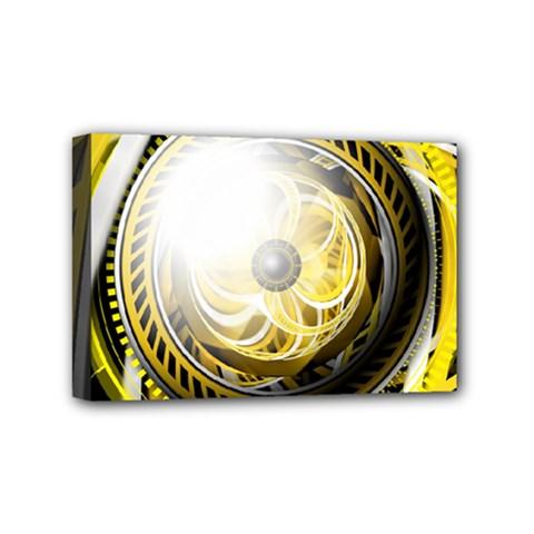 Incredible Eye Of A Yellow Construction Robot Mini Canvas 6  X 4  by jayaprime