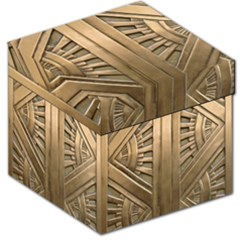 Art Deco Gold Door Storage Stool 12   by 8fugoso