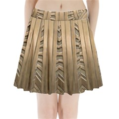 Art Deco Gold Door Pleated Mini Skirt by 8fugoso