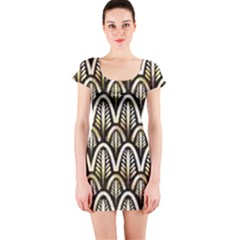 Art Deco Short Sleeve Bodycon Dress