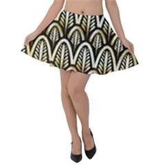 Art Deco Velvet Skater Skirt