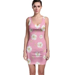 Pink Flowers Bodycon Dress by 8fugoso