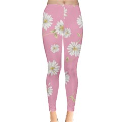 Pink Flowers Leggings  by 8fugoso