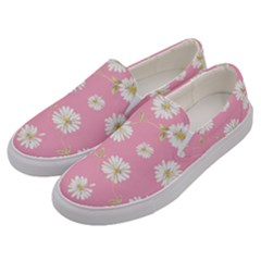 Pink Flowers Men s Canvas Slip Ons by 8fugoso