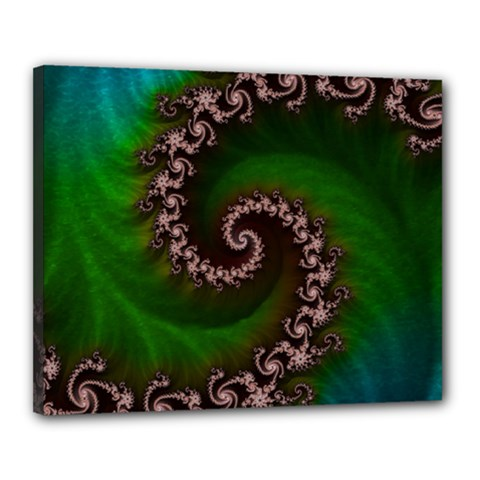 Benthic Saltlife Fractal Tribute For Reef Divers Canvas 20  X 16  by beautifulfractals
