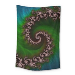 Benthic Saltlife Fractal Tribute For Reef Divers Small Tapestry by beautifulfractals