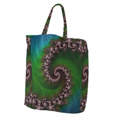 Benthic Saltlife Fractal Tribute For Reef Divers Giant Grocery Zipper Tote by beautifulfractals