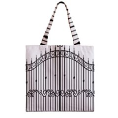 Inspirative Iron Gate Fence Zipper Grocery Tote Bag by Alisyart
