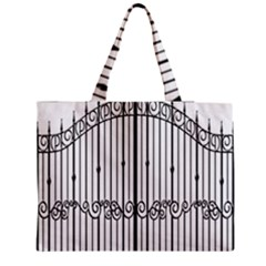 Inspirative Iron Gate Fence Medium Tote Bag by Alisyart