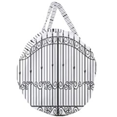Inspirative Iron Gate Fence Giant Round Zipper Tote by Alisyart