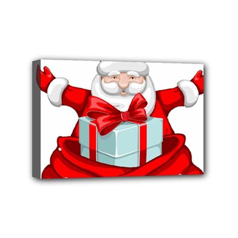 Merry Christmas Santa Claus Mini Canvas 6  X 4  by Alisyart