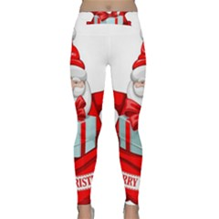 Merry Christmas Santa Claus Classic Yoga Leggings by Alisyart