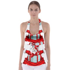 Merry Christmas Santa Claus Babydoll Tankini Top by Alisyart