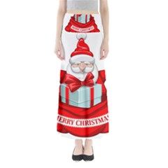 Merry Christmas Santa Claus Full Length Maxi Skirt by Alisyart