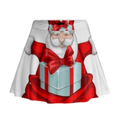 Merry Christmas Santa Claus Mini Flare Skirt by Alisyart