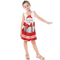 Merry Christmas Santa Claus Kids  Sleeveless Dress by Alisyart