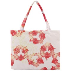 Pattern Flower Red Plaid Green Mini Tote Bag
