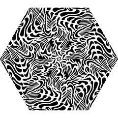 Psychedelic Zebra Pattern Black Mini Folding Umbrellas by Alisyart