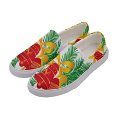 New Year Christmas Bells Tree Women s Canvas Slip Ons by Alisyart