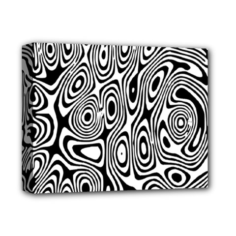 Psychedelic Zebra Black Circle Deluxe Canvas 14  X 11  by Alisyart
