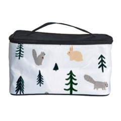 Squirrel Rabbit Tree Animals Snow Cosmetic Storage Case