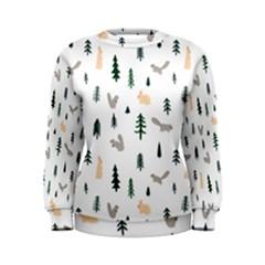 Squirrel Rabbit Tree Animals Snow Women s Sweatshirt