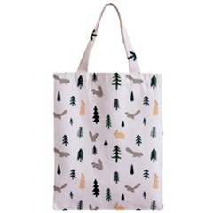 Squirrel Rabbit Tree Animals Snow Zipper Classic Tote Bag
