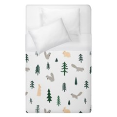 Squirrel Rabbit Tree Animals Snow Duvet Cover (single Size)