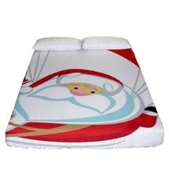 Skydiving Christmas Santa Claus Fitted Sheet (king Size)