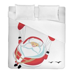Skydiving Christmas Santa Claus Duvet Cover (full/ Double Size)