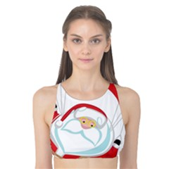 Skydiving Christmas Santa Claus Tank Bikini Top