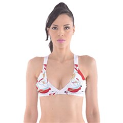Skydiving Christmas Santa Claus Plunge Bikini Top