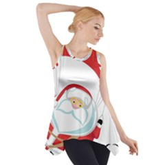 Skydiving Christmas Santa Claus Side Drop Tank Tunic