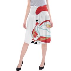 Skydiving Christmas Santa Claus Midi Beach Skirt