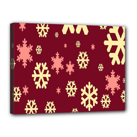 Snowflake Winter Illustration Colour Canvas 16  X 12  by Alisyart