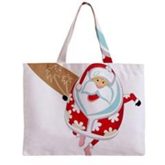 Surfing Christmas Santa Claus Mini Tote Bag by Alisyart