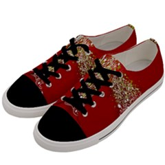 Tree Merry Christmas Red Star Men s Low Top Canvas Sneakers by Alisyart