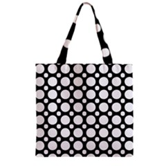 Tileable Circle Pattern Polka Dots Grocery Tote Bag by Alisyart