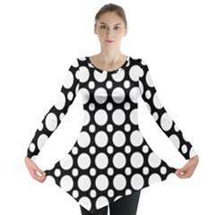 Tileable Circle Pattern Polka Dots Long Sleeve Tunic