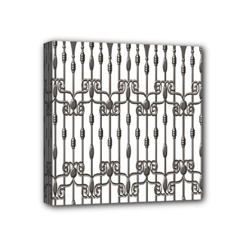 Iron Fence Grey Strong Mini Canvas 4  X 4  by Alisyart