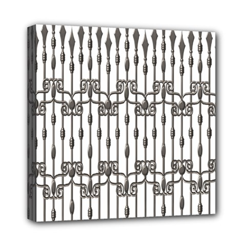 Iron Fence Grey Strong Mini Canvas 8  X 8  by Alisyart