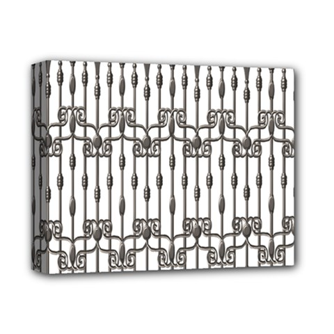 Iron Fence Grey Strong Deluxe Canvas 14  X 11  by Alisyart
