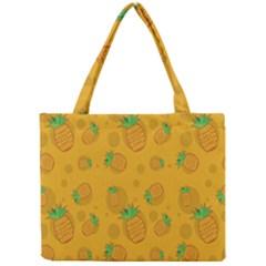 Fruit Pineapple Yellow Green Mini Tote Bag by Alisyart