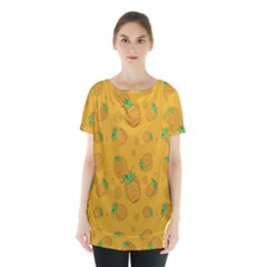 Fruit Pineapple Yellow Green Skirt Hem Sports Top by Alisyart