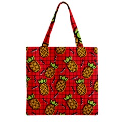Fruit Pineapple Red Yellow Green Grocery Tote Bag by Alisyart