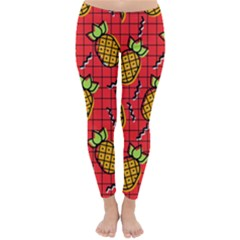 Fruit Pineapple Red Yellow Green Classic Winter Leggings by Alisyart
