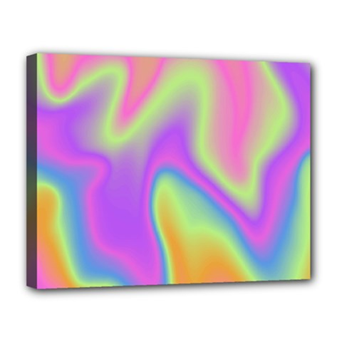 Holographic Design Canvas 14  X 11  by tarastyle